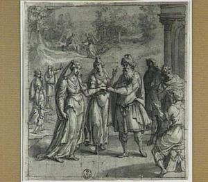 Sarai [Sara] geeft Hagar aan Abram [Abraham] tot bijvrouw (Genesis 16:1-3)