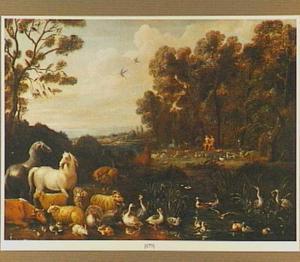 Landschap met Adam en Eva in het paradijs (Genesis 2:18-25)