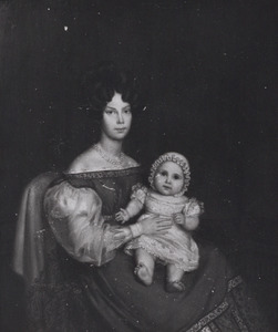 Portret van Prinses Louise Auguste Wilhelmina Amalia van Pruisen (1808-1870) en prinses Louise van Oranje-Nassau (1828-1871)
