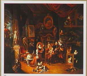Interieur van een schildersatelier