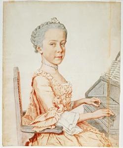 Portret van Maria Josepha van Habsburg-Lotharingen, aartshertogin van Oostenrijk (1751-1767)