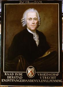 Portret van Jacob van Dam (1720-1783)