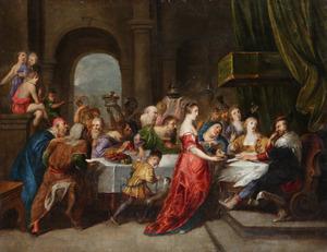 Salomé met het hoofd van Johannes de Doper voor Herodes