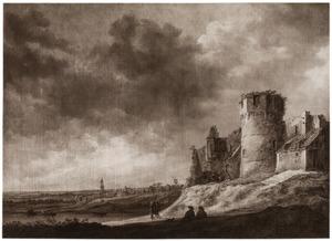 Gezicht op Kasteel Ter Horst; op de achtergrond Rhenen met de toren van de Cunerakerk