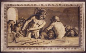 Hercules haalt Cerberus uit de onderwereld