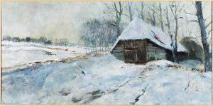Winterlandschap met schaapskooi te Heels