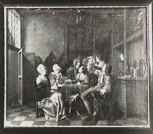 Vrolijk gezelschap rondom een tafel