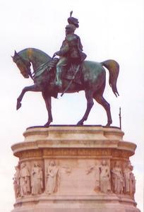 Ruiterstanbeeld van Victor Emmanuel II, eerste koning van Italië (1861-1878)
