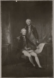 Dubbelportret van koning Willem I (1772-1843) als erfprins en zijn broer Willem George Frederik van Oranje-Nassau (1774-1799)