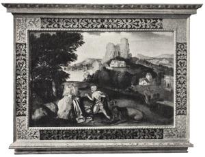 Landschap met de boetvaardige H. Hieronymus in de wildernis