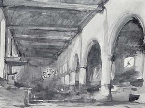 Interieur van de Bakenesserkerk in Haarlem
