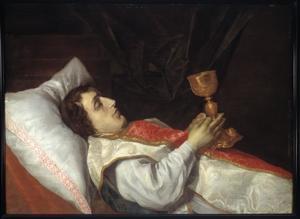 Doodsbedportret van Henricus van Eck (1624-1651)