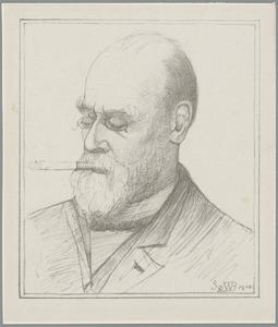 Portret van Rudolf Willem Jan Cornelis van den Wall Bake (1843-1910)
