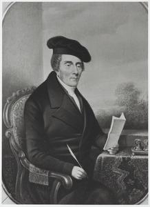 Portret van een man, waarschijnlijk Willem Jacobus Huygens (1774-1850)