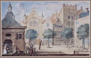 Het Huis Blyenburg bij de Beurs te Dordrecht, afgebroken in oktober 1744