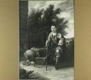 De verloren zoon hoedt de varkens (Lucas 15:15)
