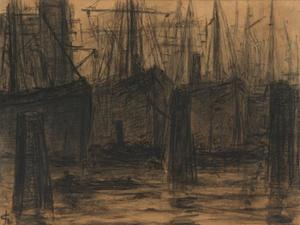 In de haven van Hamburg