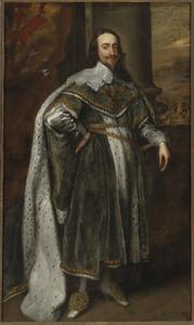 Portret van koning Karel I van Engeland (1600-1649)