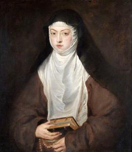 Ana Dorotea, natuurlijke dochter van keizer Rudolf II, non in het klooster van de Descalzas Reales te Madrid