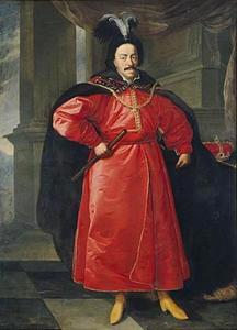 Portret van Jan II Casimir (1609-1672) in Pools kostuum