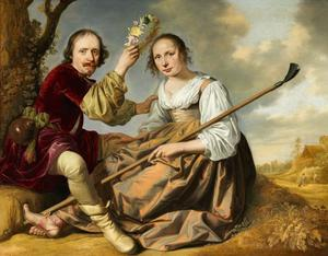 Pastoraal portret van een echtpaar
