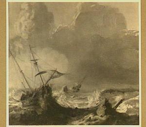 Schipbreuk in een zware storm