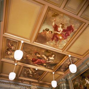 Casettenplafond met allegorische voorstellingen