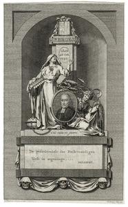 Portret van Petrus Broes (1726-1797)