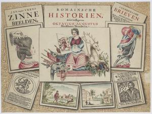 Trompe-l'oeil met titelbladen en tekeningen (allegorie met betrekking op de Patriotten?)