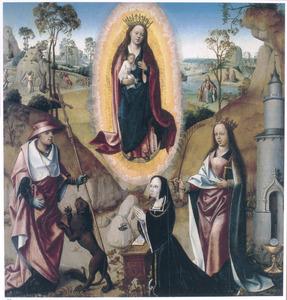 Maria met kind in een mandorla, de HH. Hiëronymus en Barbara met een stichtster