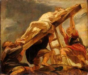 De kruisoprichting (Evangelie volgens Matteüs 27: 31-37)