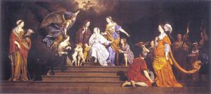 Allegorie (Onschuld tussen de deugden en de ondeugden)
