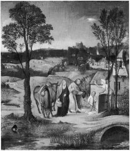 Jozef en Maria vragen om onderdak in Bethlehem