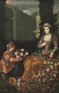 Aanbieden van een offergift aan Flora