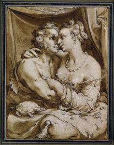 Amoureus paar; allegorie op het Gevoel