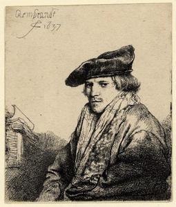 Jonge man met fluwelen baret (Petrus Sylvius?)