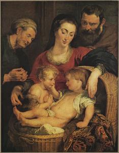 De H. Familie met de HH. Elizabeth en Johannes de Doper als kind