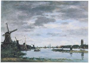 Boten op de Oude Maas bij Dordrecht