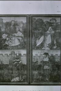 Johannes de Evangelist en kerkvader ( links); Marcus de Evangelist en kerkvader (rechts)