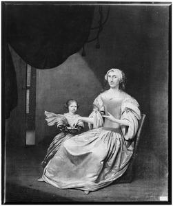 Dubbelportret van Maria Teding van Berkhout (1645-1686) en haar dochter Eva Maria de Groot (1677-1706)