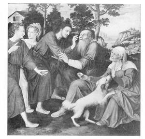 Tobias geneest de blindheid van zijn vader (Tobias:11-14)