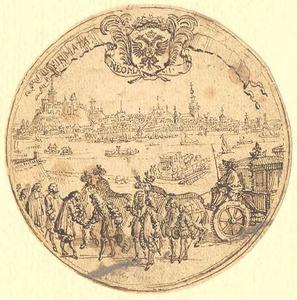 Het afscheid der gezanten na de sluiting van de Vrede van Nijmegen 1678