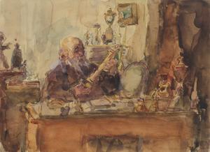 Portret van de verzamelaar Simon Pinkhof (1843-1934)