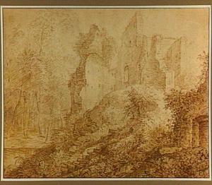 De ruïne van kasteel Egmond