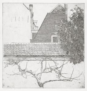 Uitzicht op huizen Nieuwe Kamp, Utrecht