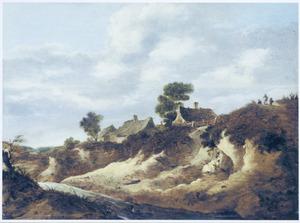 Duinlandschap met enkele huizen