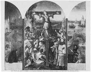 De H. Antonius (links); Gekruisigde martelares (midden); Monnik en soldaat (rechts)