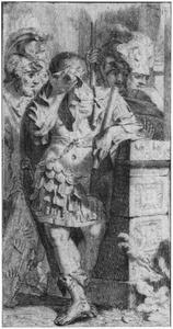 Agamemnon beweent de geofferde Polyxena