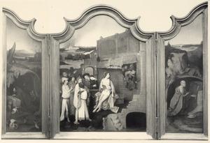 De H. Antonius (links); De beproevingen van Job (midden); De H. Hieronymus (rechts)