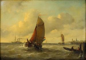 Schepen voor de kust